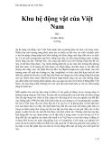 Khu hệ động vật của Việt Nam - Lê Đức Minh