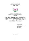 Luận văn nuôi trồng thủy sản: Xác định tính nhạy của một số loại thuốc kháng sinh đối với edwardsiella sp và aeromonas sp gây bệnh trên cá tra tại Cần Thơ và An Giang