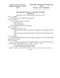 Đề thi học kì 1 Hóa học 8 - Đề số 13