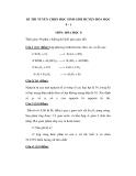 Đề thi học sinh giỏi môn Hóa học lớp 8 - Đề 10