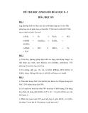 Đề thi học sinh giỏi môn Hóa học lớp 8 - Đề 4