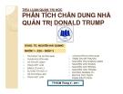 Tiểu luận: Phân tích chân dung nhà tích quản trị Donald Trump