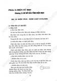 Giải bài tập Vật lý 11 cơ bản - Chương 3 - Cơ sở của tĩnh điện học