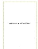 Quyết định số 202/QĐ-UBND 2013