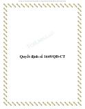 Quyết định số 1649/QĐ-CT 2013