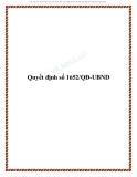 Quyết định số 1652/QĐ-UBND 2013