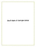 Quyết định số 1265/QĐ-UBND 2013