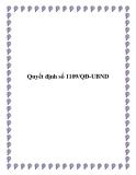 Quyết định số 1109/QĐ-UBND 2013