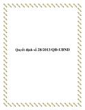 Quyết định số 28/2013/QĐ-UBND 2013