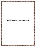 Quyết định số 1198/QĐ-UBND 2013