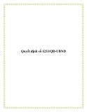 Quyết định số 1233/QĐ-UBND 2013