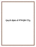 Quyết định số 979/QĐ-TTg 2013