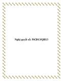 Nghị quyết số: 50/2013/QH13 2013