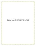 Thông báo số 37/2013/TB-LPQT 2013
