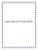 Quyết định số 937/QĐ-UBND 2013