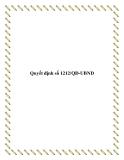 Quyết định số 1212/QĐ-UBND 2013
