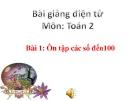 Bài giảng Ôn tập các số đến 100 - Toán 2 - GV.Lê Văn Hải