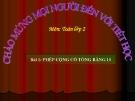 Bài giảng Phép cộng có tổng bằng 10 - Toán 2 - GV.Lê Văn Hải