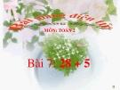 Bài giảng 28+5 - Toán 2 - GV.Lê Văn Hải