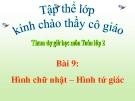 Bài giảng Hình chữ nhật - hình tứ giác - Toán 2 - GV.Lê Văn Hải