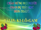 Bài giảng Ki-lô-gam - Toán 2 - GV.Lê Văn Hải