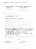 Đề thi tuyển sinh THPT môn Toán lớp 10 năm 2008 - Sở GD&ĐT Phú Yên