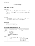 Giáo án Địa lý 4 bài 11: Ôn tập