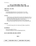 Giáo án Địa lý 4 bài 14: Hoạt động sản xuất của người dân ở đồng bằng Bắc Bộ