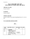 Giáo án Địa lý 4 bài 15: Hoạt động sản xuất của người dân ở đồng bằng Bắc Bộ (TT)