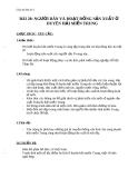 Giáo án Địa lý 4 bài 28: Người dân và hoạt động sản xuất ở đồng bằng duyên hải miền Trung