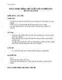Giáo án Địa lý 4 bài 8: Hoạt động sản xuất của người dân ở Tây Nguyên