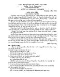 Đề ôn tập giữa HK 2 môn Tiếng Việt năm 2014 - Môn đọc hiểu