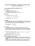 Đề thi thử Đại học môn Toán khối B năm 2014 - Đề số 22