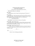 Đề thi thử Đại học môn Văn khối C năm 2014 - Đề 4