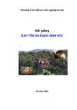 Bài giảng bảo tồn đa dạng sinh học - Cao Thị Lý