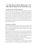 CÁC THỦ THUẬT TRONG LOẠT ĐÁNH QUA LẠI CỦA BÓNG BÀN