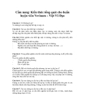 Cẩm nang: Kiến thức tổng quát cho huấn luyện viên Vovinam – Việt Võ Đạo