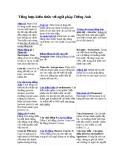 Tổng hợp kiến thức về ngữ pháp Tiếng Anh