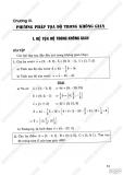Giải bài tập Hình học 12 cơ bản - Chương 3 - Phương pháp tọa độ trong không gian