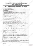 Giải bài tập giải tích 12 cơ bản - Chương 1 - Ứng dụng đạo hàm để khảo sát hàm số