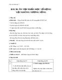 Giáo án Sinh học 7 bài 30: Ôn tập phần một - Động vật không xương sống