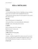 Giáo án Sinh học 7 bài 4: Trùng roi
