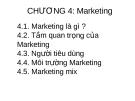 Bài  giảng Nguyên lý Quản trị kinh doanh (GV. Nguyễn Hải Sản) - Chương 4: Marketing