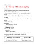Giáo án bài 1: Tập hợp - Phần tử của tập hợp - Toán 6 - GV.D.H.Yến