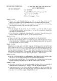 Đề thi học sinh giỏi quốc gia môn Sinh lớp 12 năm 2011 - Kèm đáp án