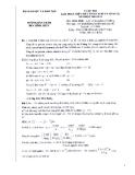 Hướng dẫn chấm đề thi máy tính cầm tay môn Hóa lớp 12 năm 2011