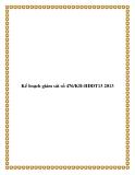 Kế hoạch giám sát số 476/KH-HĐDT13 2013