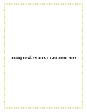 Thông tư số 23/2013/TT-BGDĐT 2013