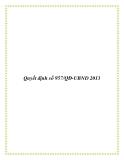 Quyết định số 957/QĐ-UBND 2013
