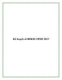 Kế hoạch số 88/KH-UBND 2013